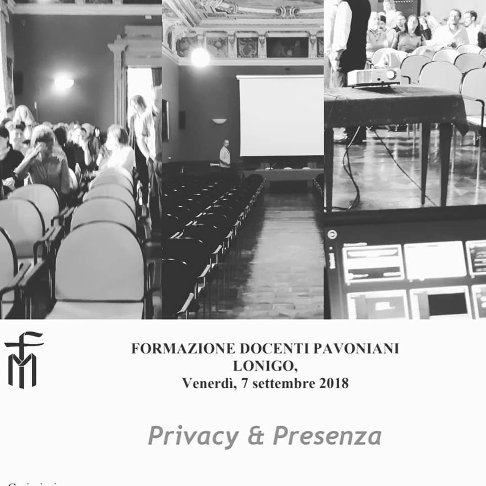 Seminario per la formazione dei docenti pavoniani in materia di privacy